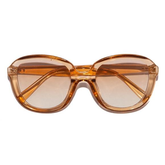 Retro 70s Disco Ombré Honey Crystal Sunglasses